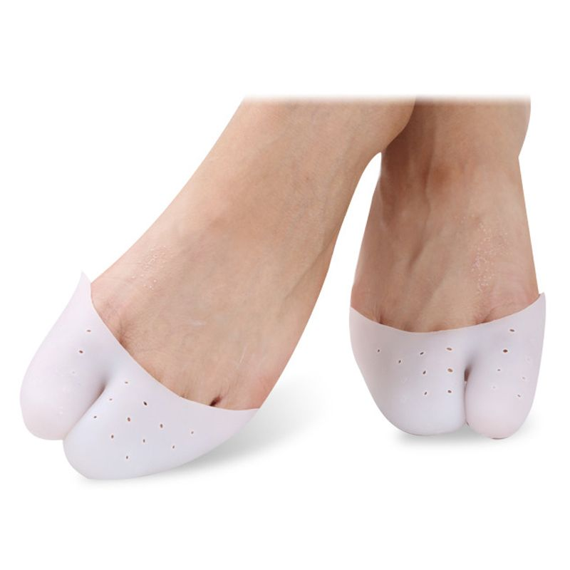Pair of Soft Silicone Gel Toe Caps Protector Pads for Pointe Ballet Shoes