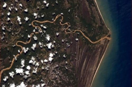 A Brazilian river, perpetually kissing the Atlantic.