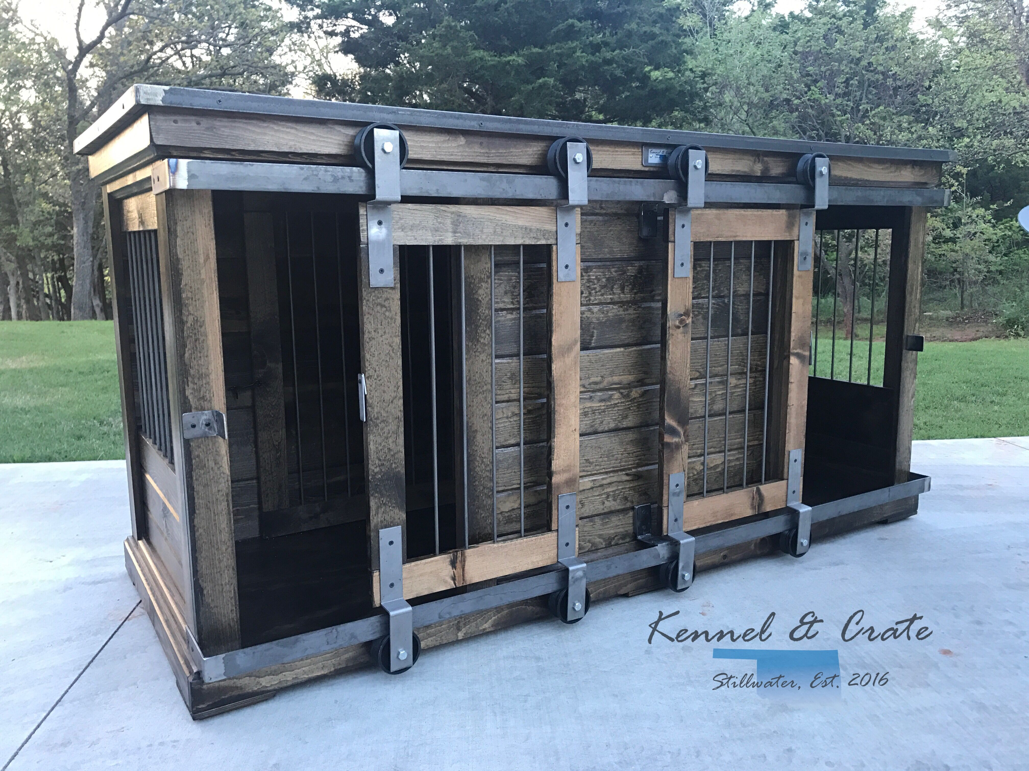 Luxury designer piece to replace your dogs 39 wire crate for Design indoor dog crate