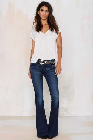 Outfits Con Pantalones Vaqueros Acampanados Fashion Flare Jeans Outfit Outfits