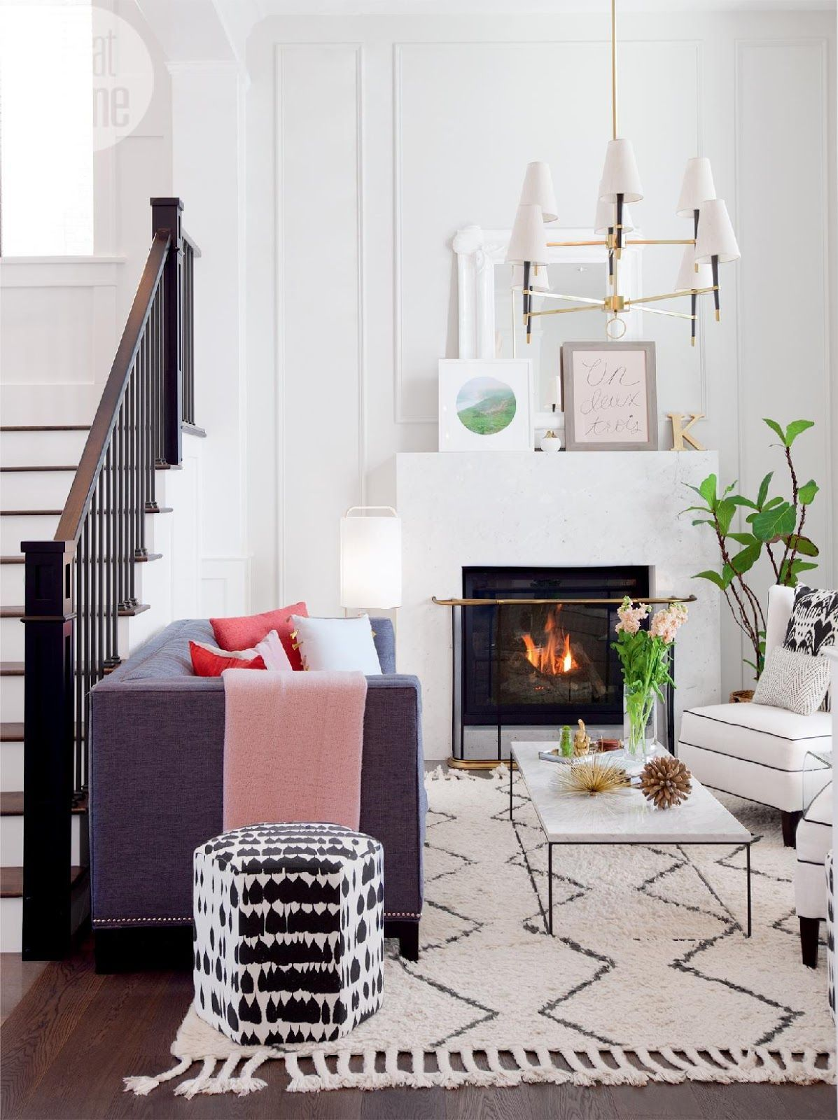 Love the modern, minimalist and feminine style of this almost all ...