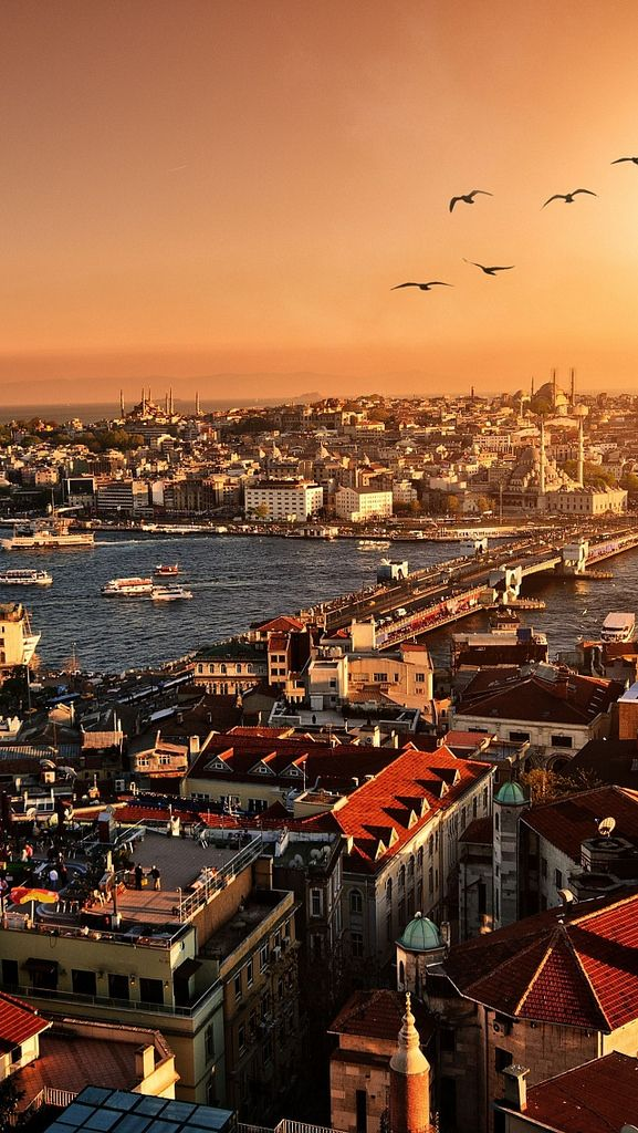 Istanbul Sunset Top View Building 59563 640x1136 City View Travel Around The World Places To Travel