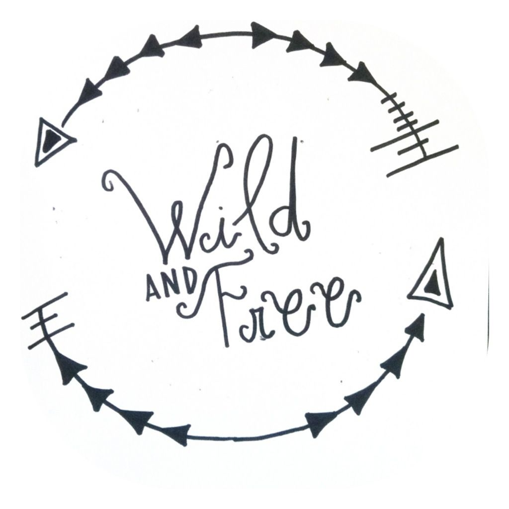 Hand drawn logo by WILD AND FREE