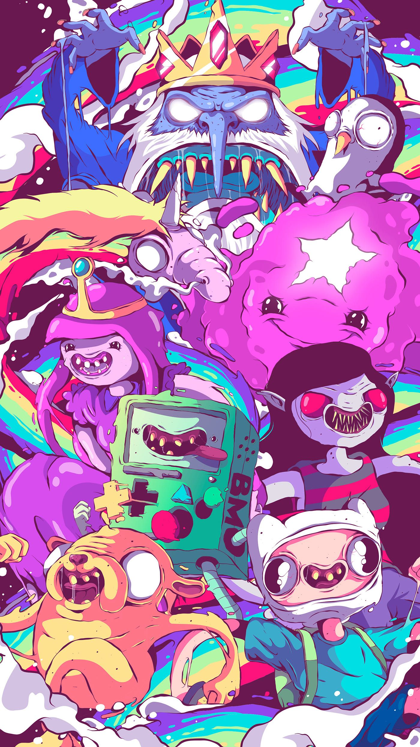 Adventure Time In The Liquid World On Behance Adventure Time Wallpaper Adventure Time Art Cartoon Wallpaper
