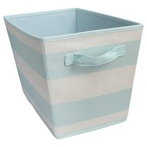 Striped Fabric Bin Large Aqua - Pillowfort™ : Target
