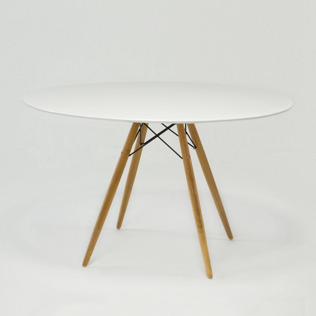 mesa de comedor redonda vintage en demarqueses