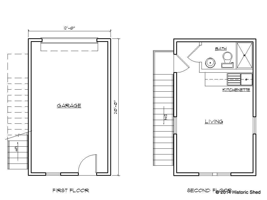 single car garage plan - efficient use of plumbing & space | The ...