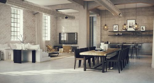 Maison de style industriel : robuste, mais certainement pas morose ...
