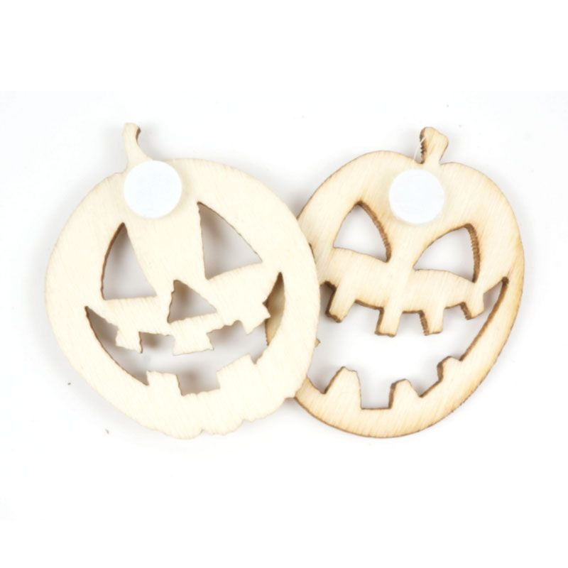150pcsset unfinished rustic wooden pumpkin halloween decoration 30mm party supplies wood button stickers free