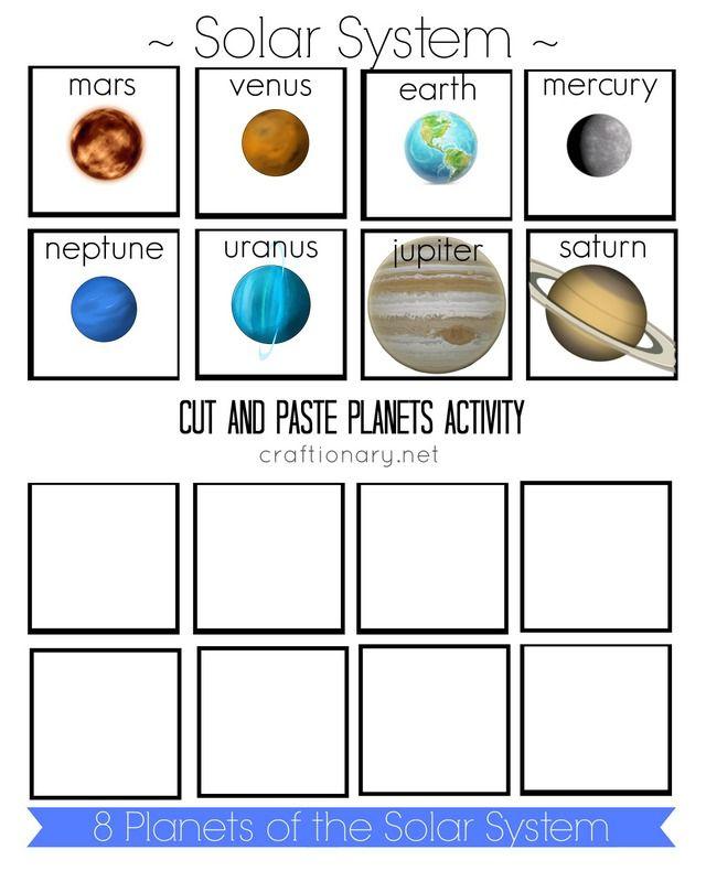 cut color paste solar system worksheets