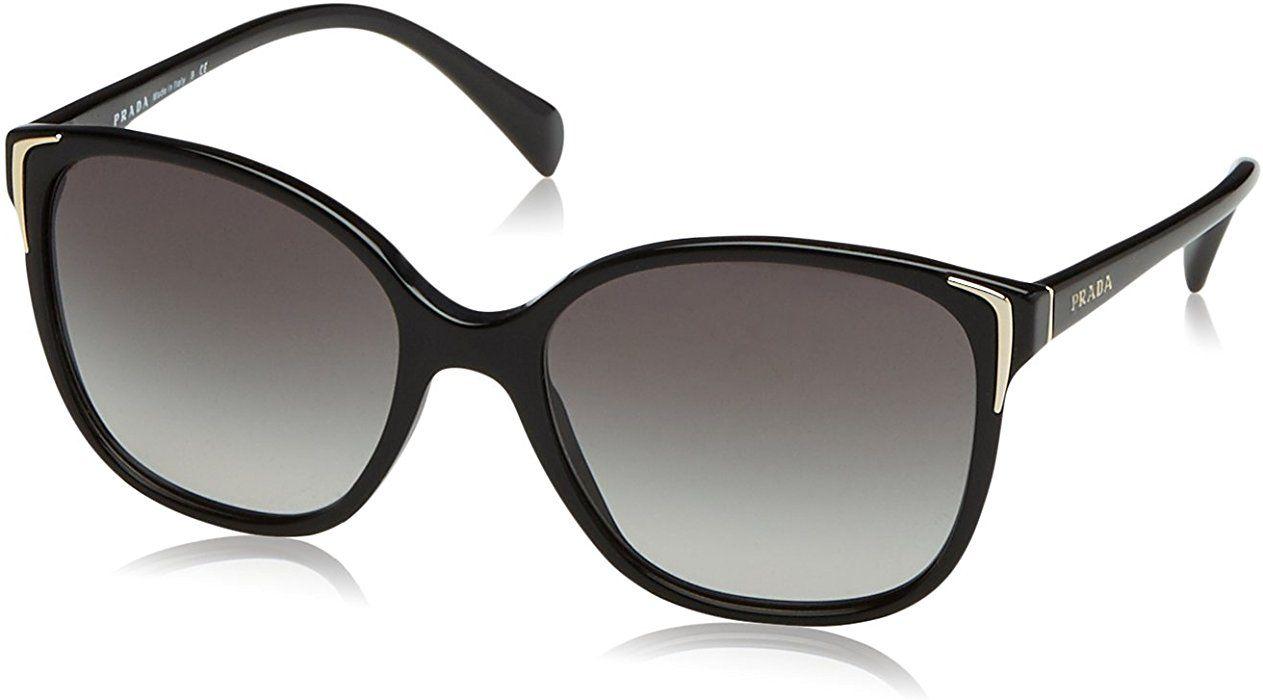 807488c0509ab Prada Damen 0PR01OS 1AB3M1 55 Sonnenbrille, Schwarz (Black Grey)  Prada