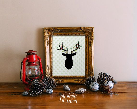Hey, I found this really awesome Etsy listing at https://www.etsy.com/listing/112567550/christmas-printable-wall-art-deer