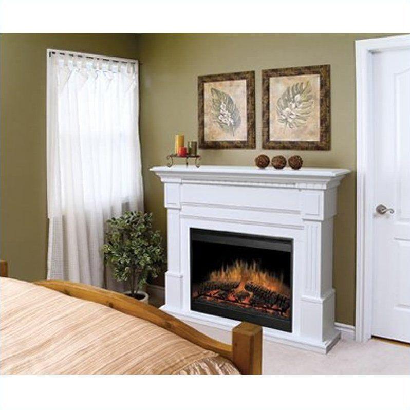 dimplex essex white electric fireplace