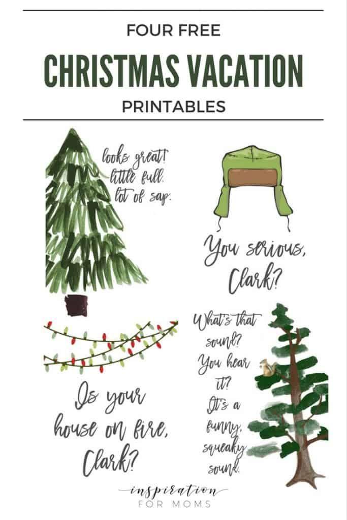 Christmas Vacation Printables - Set of Four