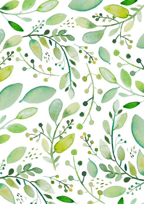 Watercolor Foliage Art Print By Sweet Reverie With Images