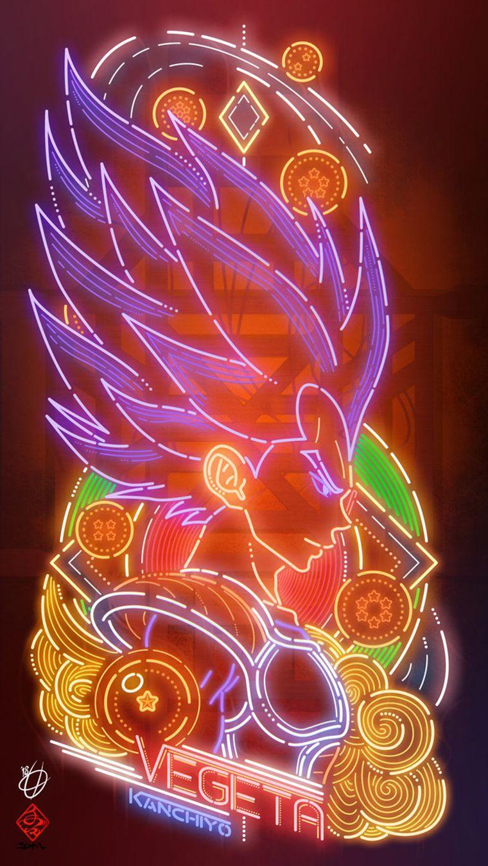 Dragon Ball : les fan arts façon néon de Kanchiyo
