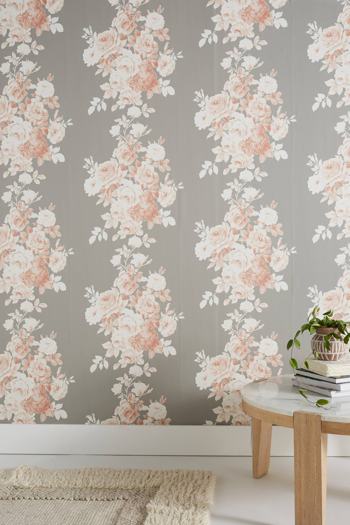 Magnolia Home Tea Rose Wallpaper by in Assorted, Wall