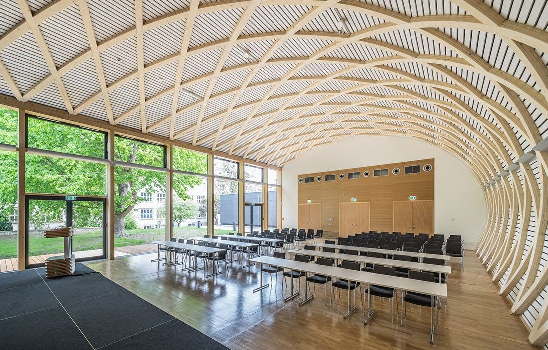 Wood Research Under Parametric Vault Ihd In Dresden Germany By