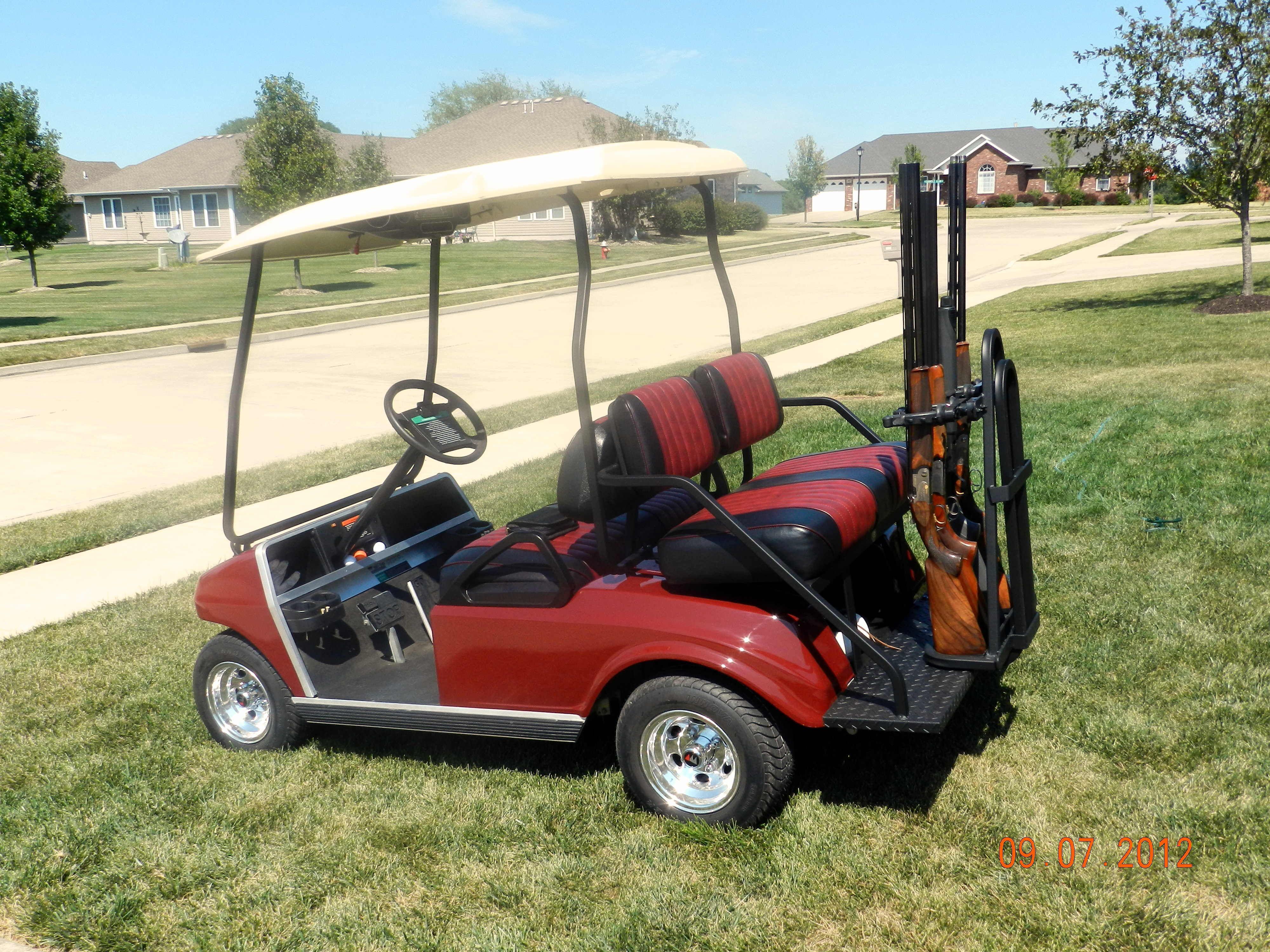 Ds 4 Passenger Golf Car With Gun Rack Golf Cars Golf