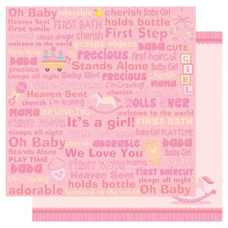 Best Creation Inc - Sweet Baby Collection - 12 x 12 Double Sided - double lined paper