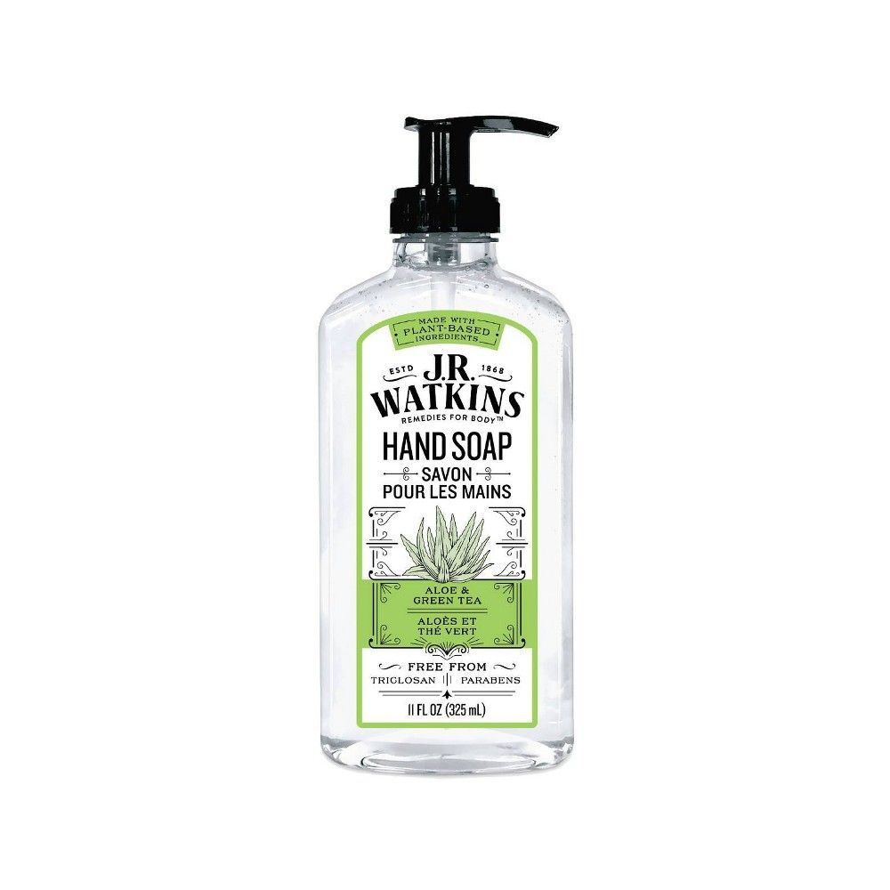 J R Watkins Aloe Green Tea Liquid Hand Soap 11oz Liquid