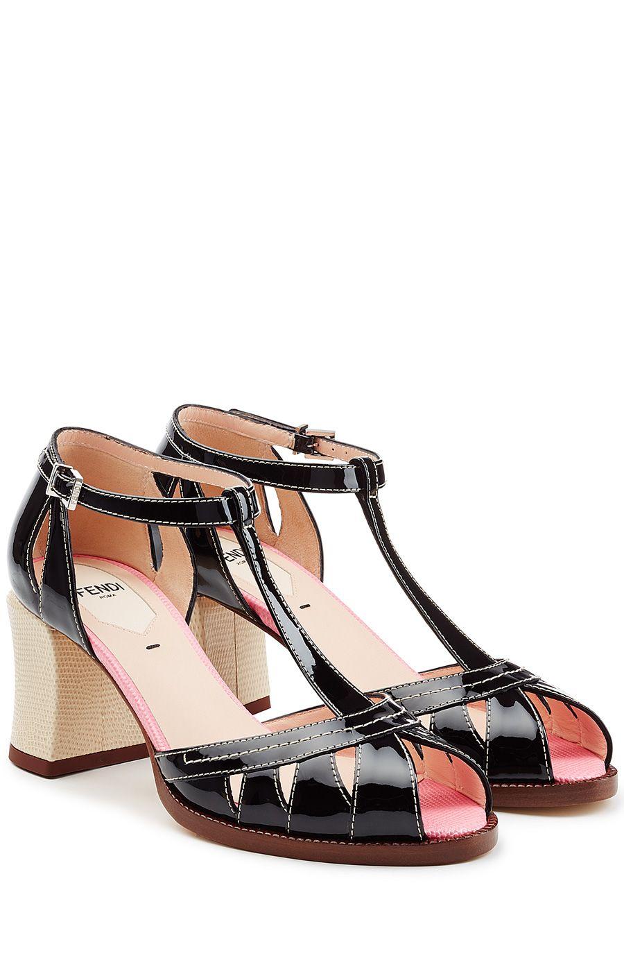 Patent Leather Block Heel Sandals detail 0