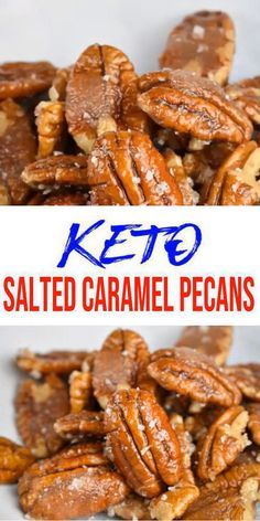 BEST Keto Pecans! Low Carb Keto Salted Caramel Coated Pecans Idea – Sugar Free – 4 Ingredient – Quick & Easy Ketogenic Diet Recipe – Completely Keto Friendly #ketodessert