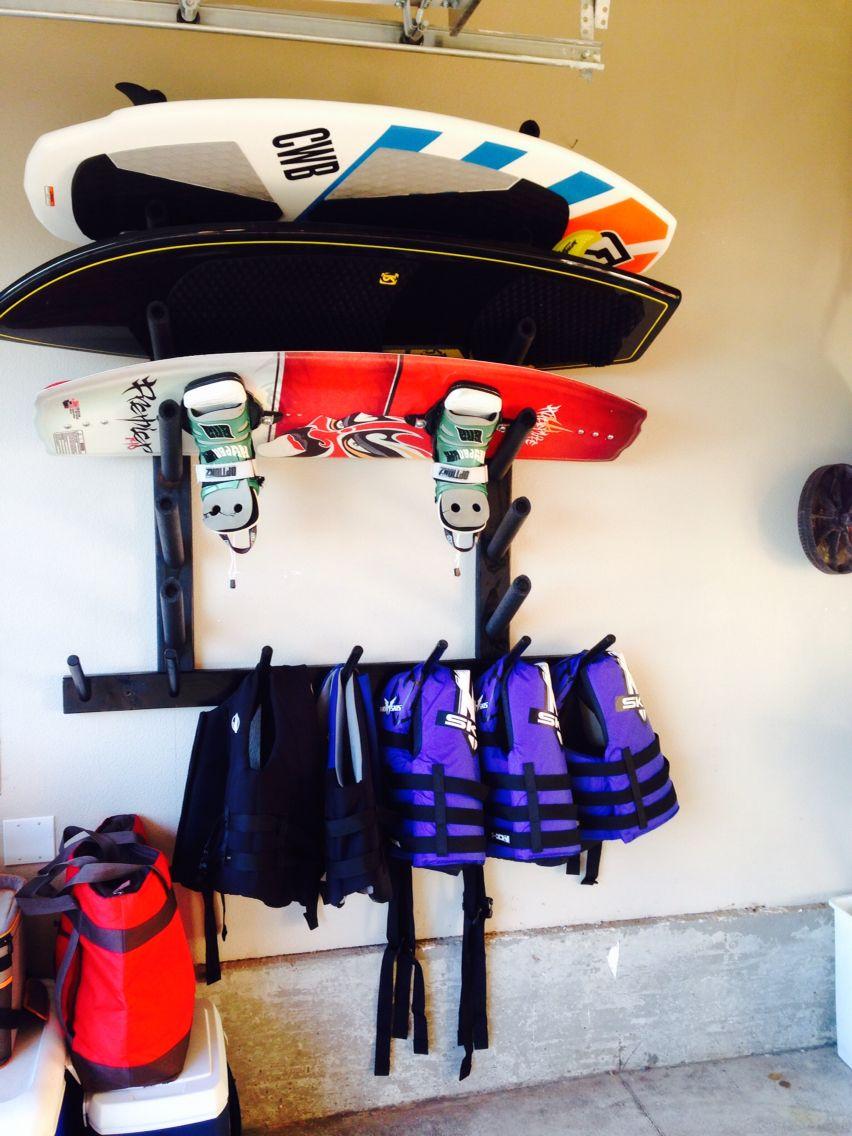 All The Racks Are Installed Diy Kayak Storage Storage