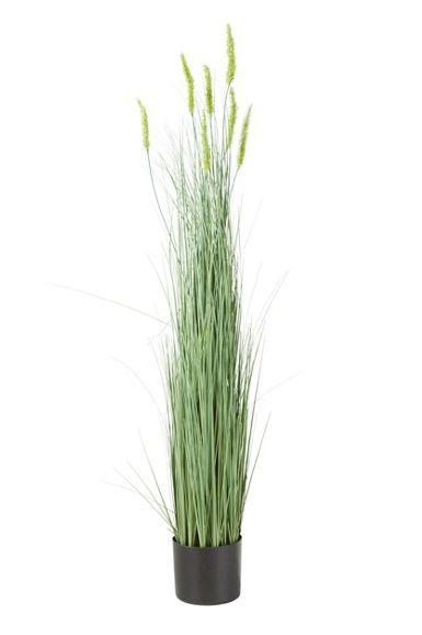 Kunstpflanze in Grün - dekorative Gräser in 4 Designs