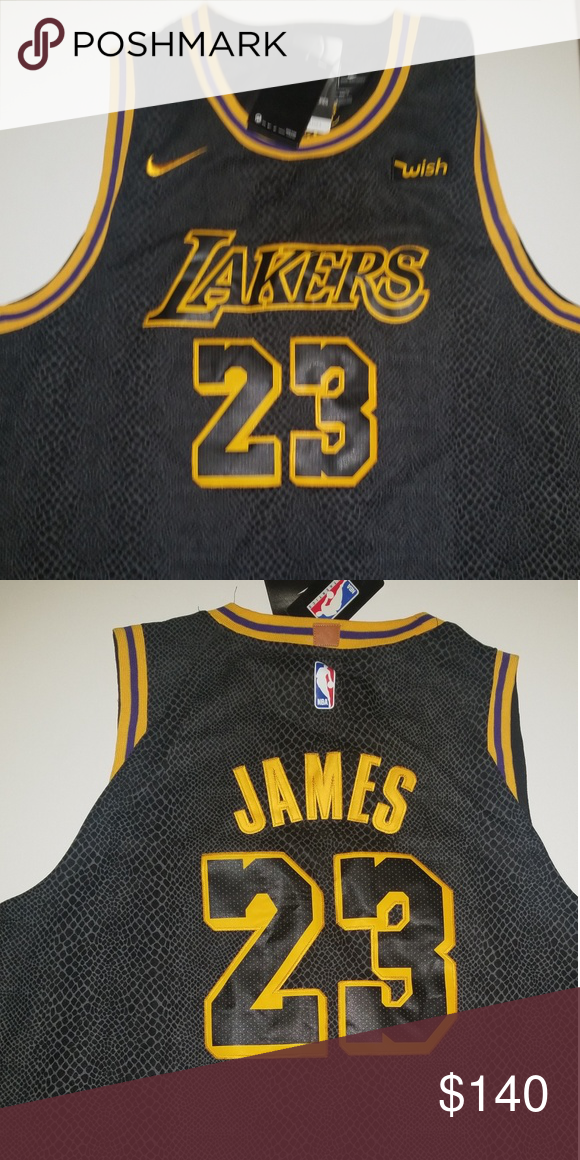 4d92bc59c Authentic Nike Lakers Lebron James Lakers Jersey Brand new Authentic Mens Nike  Lebron James Lakers Jersey Mamba print Nike Shirts Tank Tops