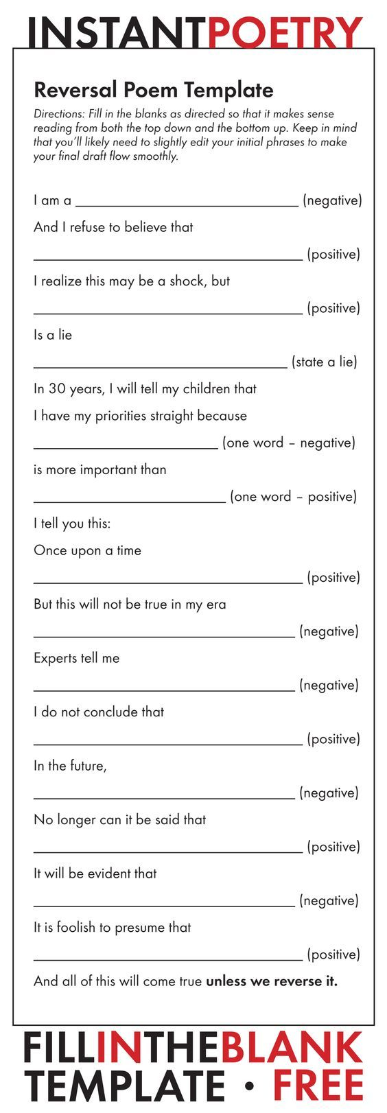 Free And Easy Poetry Assignment Just Print And Teach Poetry Highschoolenglish Middleschoolenglish Poetry Lessons Poetry Worksheets Teaching Poetry [ 1622 x 564 Pixel ]