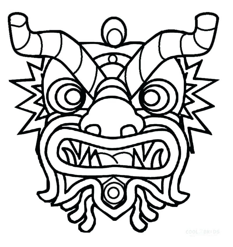 Chinese New Year Dragon Coloring Pages Printable New Year Coloring