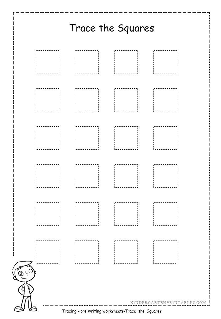 Square Shape Tracing Worksheets Free Printable Tracing