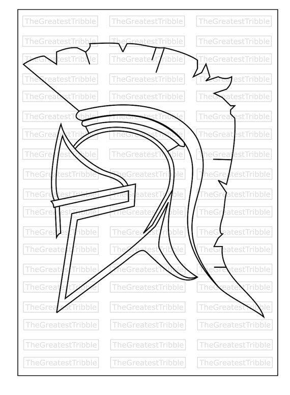 Spartan Helmet Svg Png Jpg Eps Vector Graphic Clip Art Spartan Etsy Spartan Helmet Clip Art Spartan Helmet Tattoo