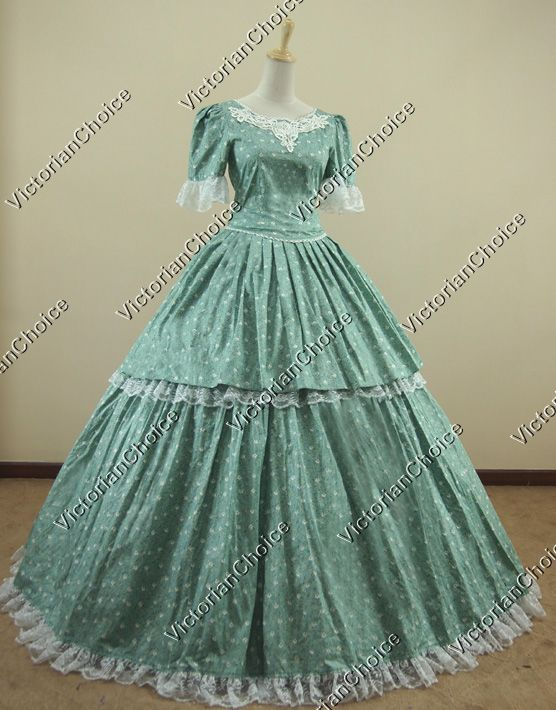 Civil War Southern Belle Ball Gown Dress Reenactment Clothing #dressesfromthesouthernbelleera