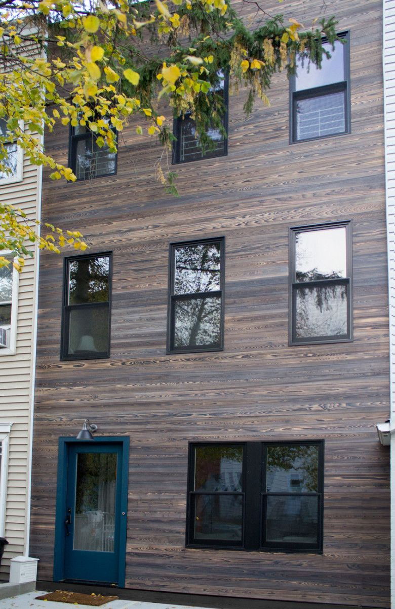Jan Fogel Selected ReSAWNs MURASAKI Shou Sugi Ban Charred Wood Cypress For Exterior Siding This Town Home In Park Slope Brooklyn