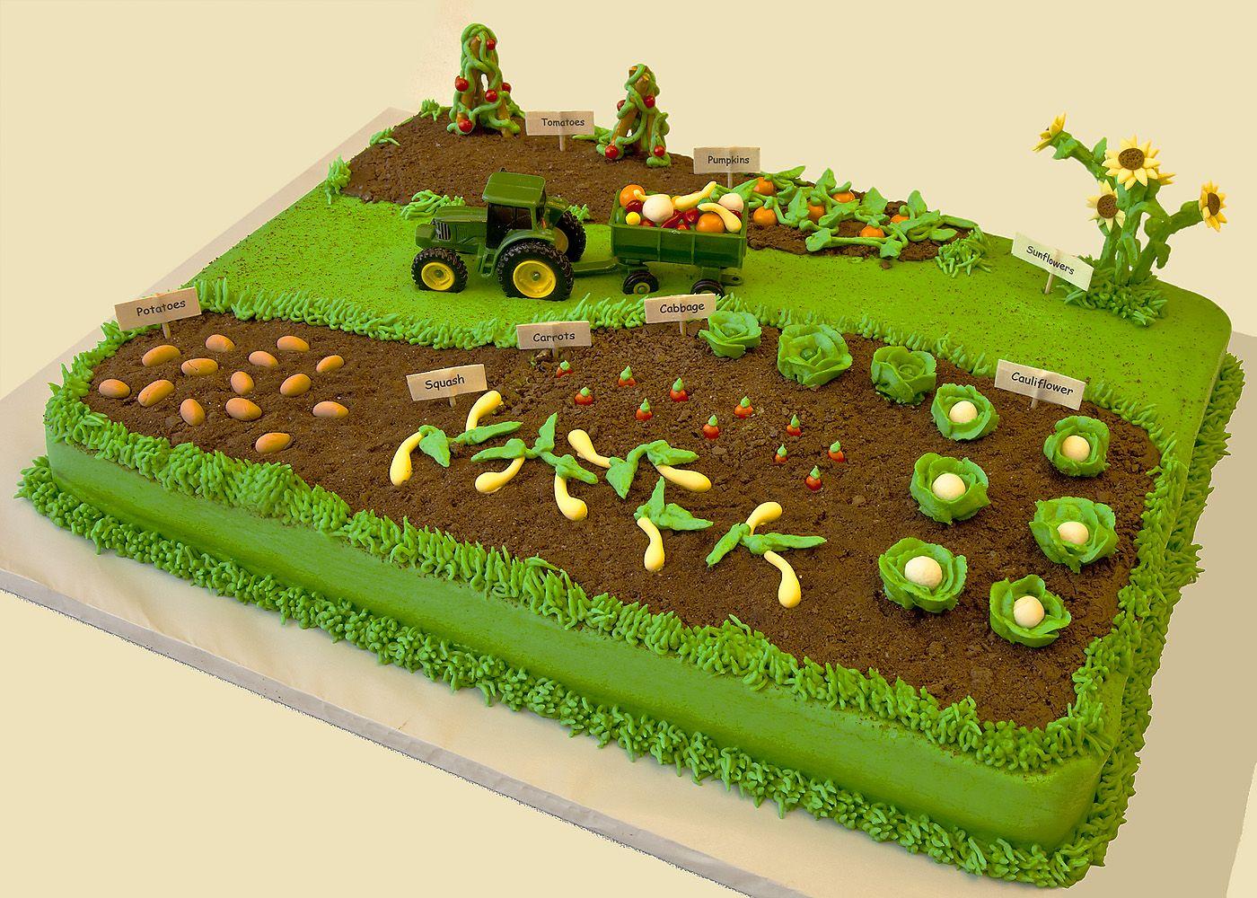 A farmer\'s garden cake~ SWEET!   A Farmer\'s Garden and his Farm ...