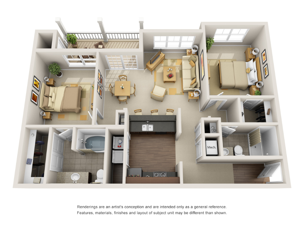 1 2 And 3 Bedroom Luxury Apartments In Fort Wayne In With