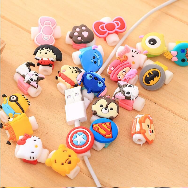 Devoted 4pcs Random Animals Cable Winder Chick Headphone Winder Earbud Silicone Cord Wrap Wire Organizer Earphone Cord Stationery Stationery Holder