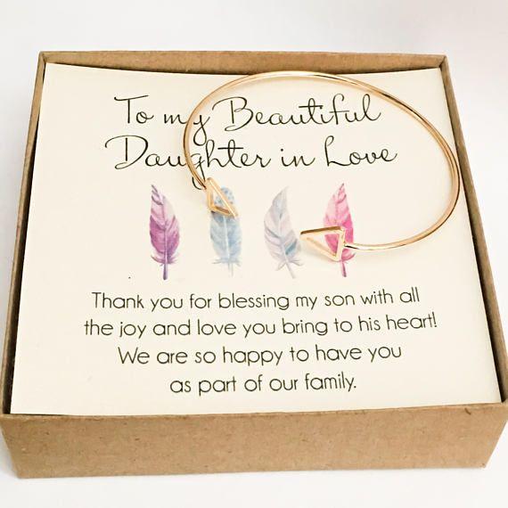 Daughter In Law Bracelet Daughter In Love Gift Sons Wife Birthday