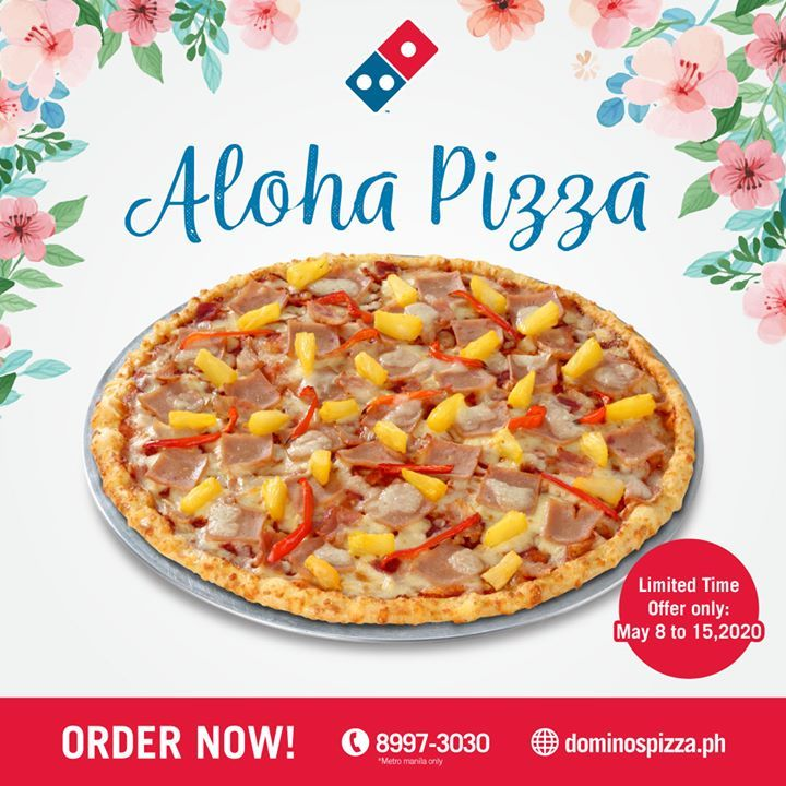 Dominos pizza new aloha pizza in 2020 foods delivered