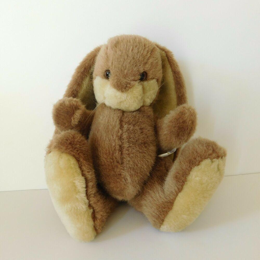 Easter bunny rabbit jointed plush brown long ears wangs