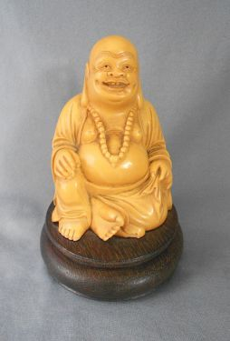 Old Chinese Smiling Buddha… Has Wonderful Patina.. Traveling Asian Antiques Antiques
