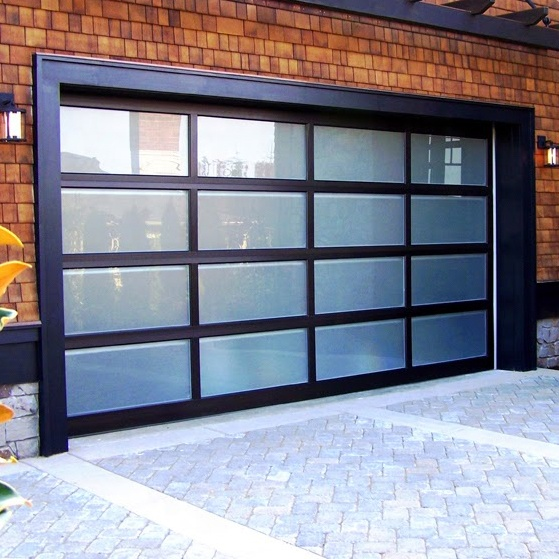 Transparent Sectional Single Sliding Frosted Glass Garage Door Buy Single Garage Door Transparent Sectiona In 2020 Garage Doors Glass Garage Door Unique Garage Doors