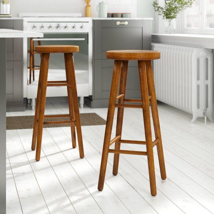 Hazelwood Home 80cm Bar stool | Wayfair.co.uk