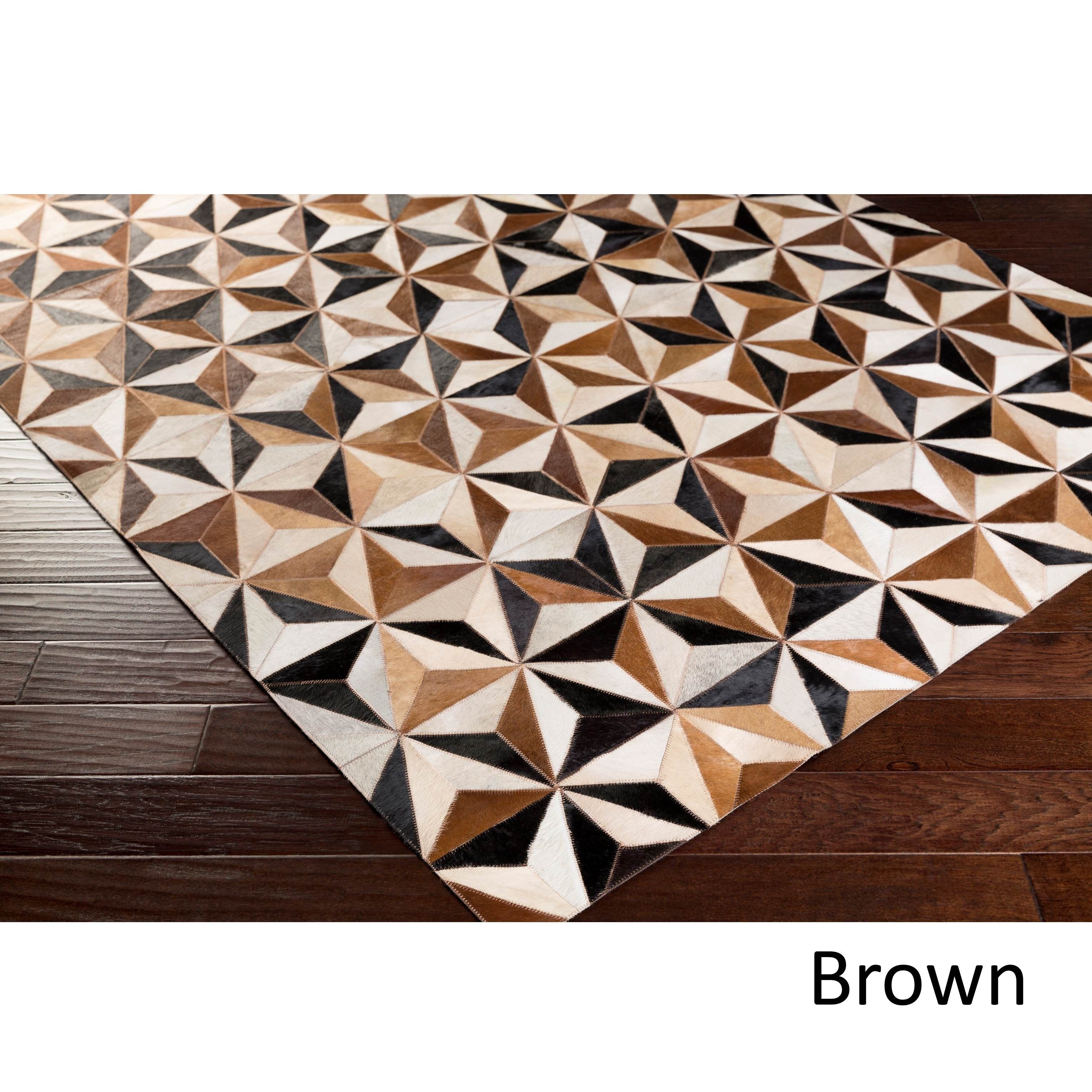 Hand Crafted Osbourne Rug Leather Rug Rugs Colorful Rugs