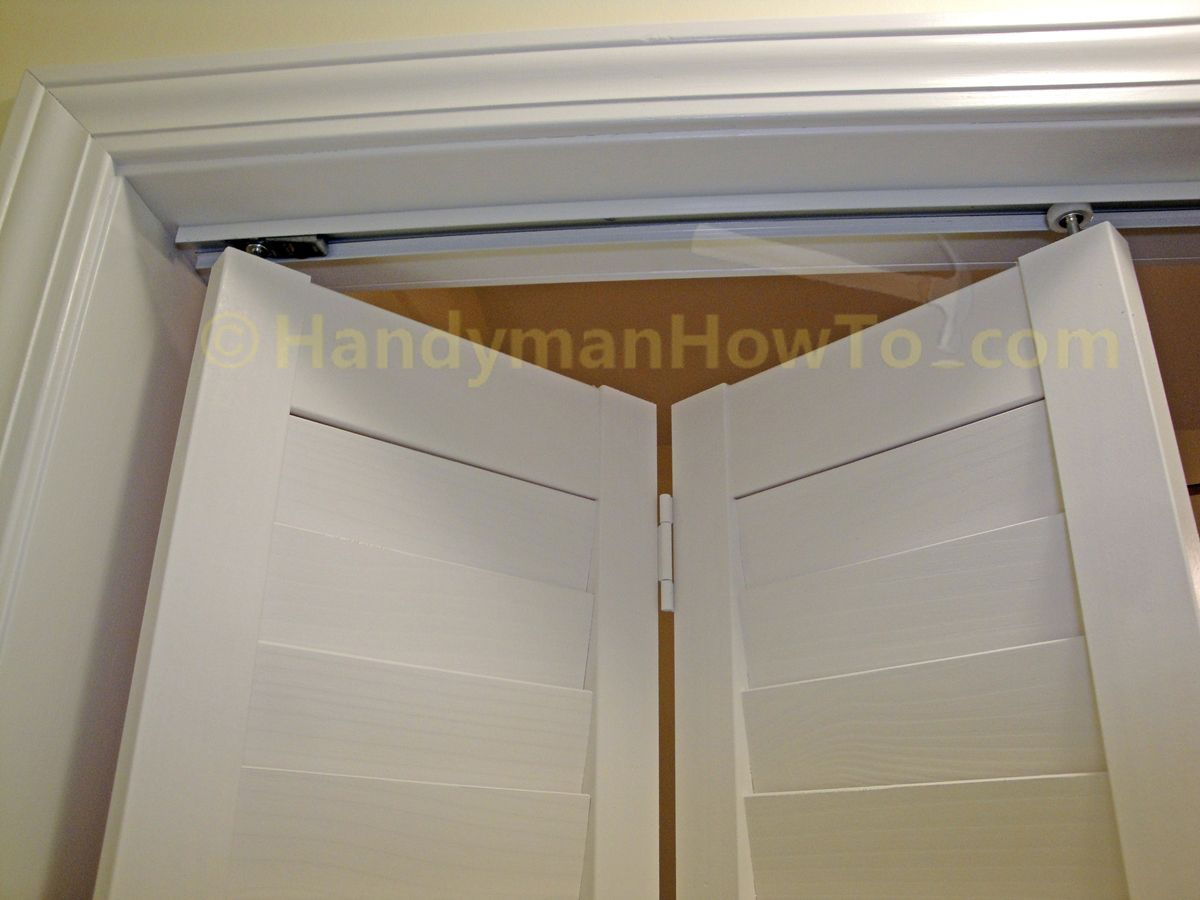 How To Install A Bi Fold Closet Door Handymanhowto Com Bifold Closet Doors Bifold Doors Folding Doors Diy