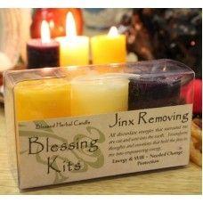 Wicca Supplies, Pagan Supplies, Witchcraft Supplies, Spiritual Supplies - New Awakening - Blessed Herbal Set - Jinx Remover Candles, $12.95 (http://www.wiccasupplies.ca/blessed-herbal-set-jinx-remover-candles/)