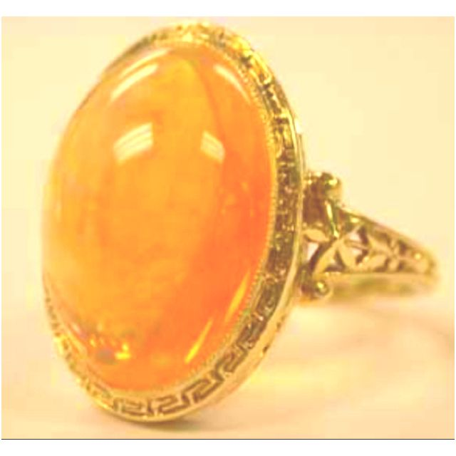 Gorgeous Rare 8.68  Mexican Fire Opal  check it out at Circa 1910 www.nlshaw.com