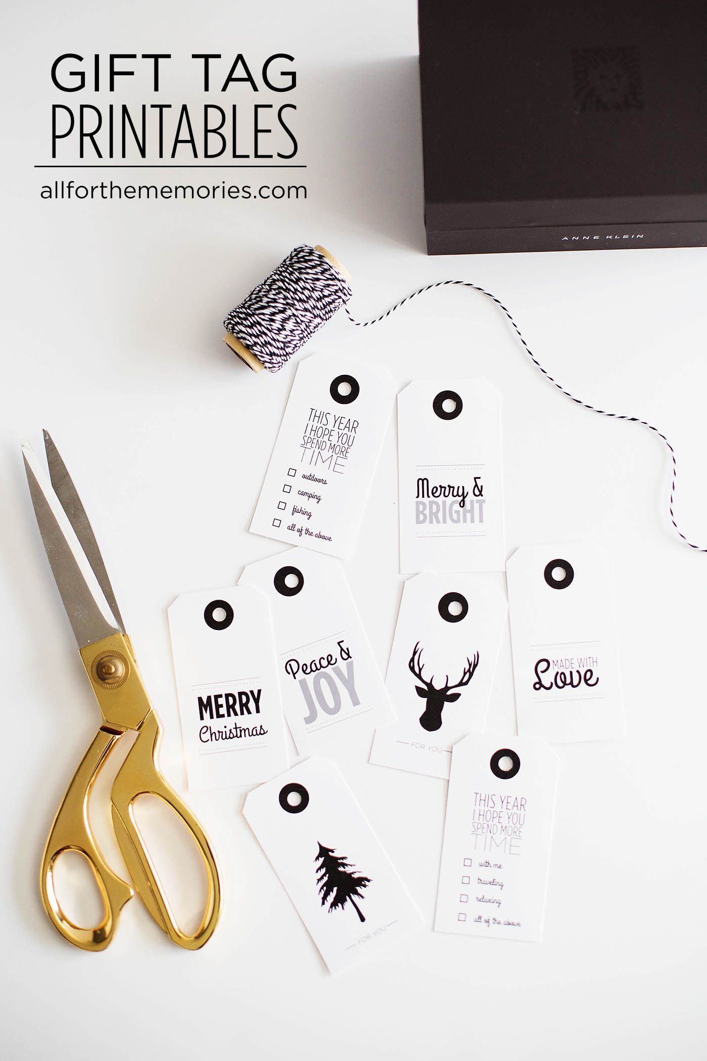 """Personalized gift wrapping for the perfect gift - plus free printable tags! I love the """"spend more time"""" tag with the gorgeous Anne Klein watch set! ad #StyleMyHoliday"""